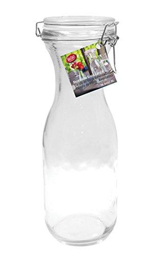 TableCraft 33.875 oz Resealable Glass Water Carafe