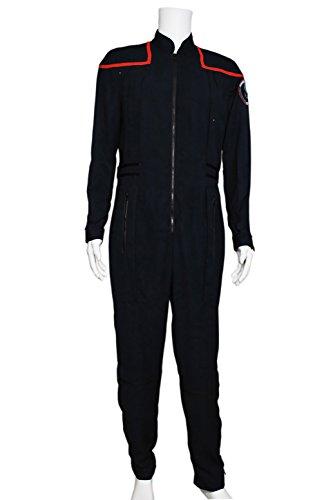 Star Trek Blue Jumpsuit - XOMO Star Trek Uniform Enterprise Commander Charles Jumpsuit Male M
