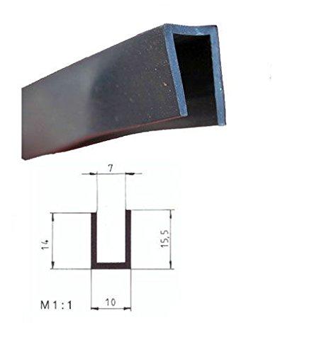 Eutras Edge Safety 2328Frame FP3009Edge Protection Rubber Seal Split–Black, 10M