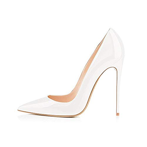 Elisabet Tang High Heels, Womens Pointed Toe Slip on Stilettos Party Wedding Pumps Basic Shoes WH 8 - High Stiletto Pointy Heel Toe