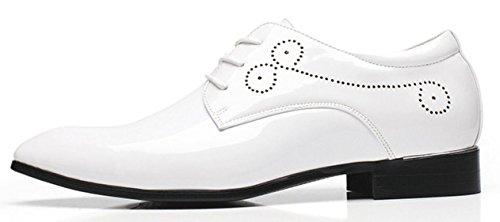 Britannico Uomo Stringate Barbiere Grandi Lavoro Scarpe da white Derby da Scarpe XWZG Stile Scarpe da Semplici S1qTBwxnO
