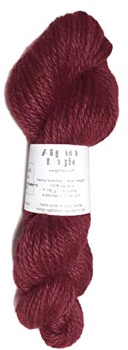 (Hand Dyed Baby Alpaca Yarn, Kettle Dyed: Cape Cod Cranberry, Heavy Worsted Weight, 100 Grams, 102 Yards, 100% Baby AlpacaCape Cod Cranberry)