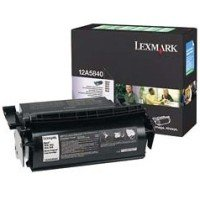 Lexmark 12A5840 Black Laser Toner Cartridge, Works for ADP LaserStation 1500, ADP LaserStation 2000, 4069 Optra T, Optra T610