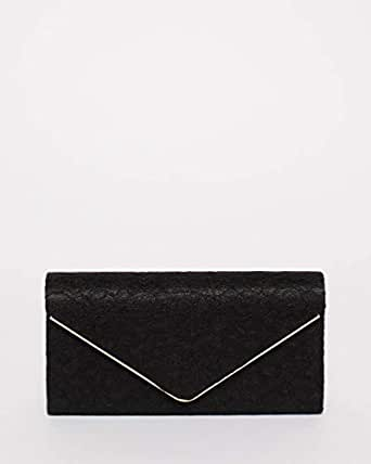 Black Lace Vanessa Evening Clutch Bag