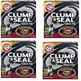 Arm and Hammer hGLVTj Clump and Seal Multi-Cat Litter, 14 lb (4 Pack) (Arm And Hammer Clump And Seal 28 Lbs)