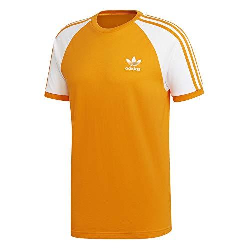 Adidas Arancione 3 Brillante T shirt stripes Uomo PRrq8P