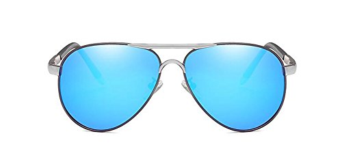 Glacier en cercle lunettes Bleu soleil métallique Lennon vintage du rond polarisées inspirées retro de style wf6qwB