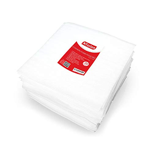 XFasten Cushion Foam Pouch as Dish Wrap and Glassware Packing Supply- Safely Wrap Dishes, China, Glass and Furniture, 12-Inch by 12-Inch, Pack of 50, Packing Cushioning Supplies for Moving (In Ct Country Stores Furniture)