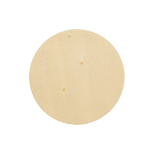 Natural Unfinished Round Wood Circle Cutout 8 Inch - Bag of 10