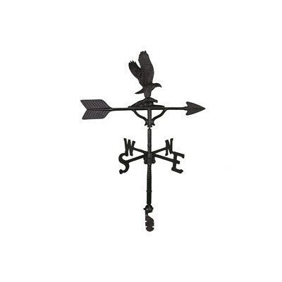 Montague Metal Products 32-Inch Weathervane with Satin Black Eagle Ornament by Montague Metal Products