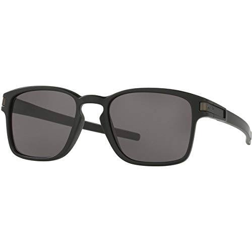 Oakley Men's Squared Sunglasses,Black/Warm ()
