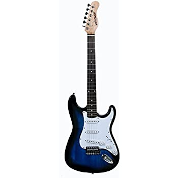 full size right handed blue burst 6 string solid body electric guitar learn to. Black Bedroom Furniture Sets. Home Design Ideas