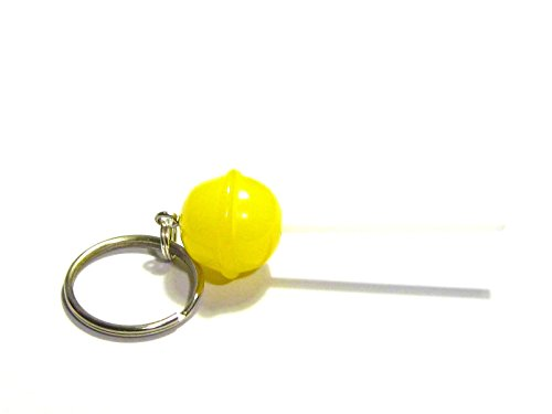Dum Dum Tiny Lollipops (Lemon Lollipop Keychain - Tiny Food Jewelry)