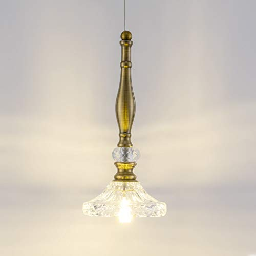 Copper And Crystal Pendant Light in US - 3