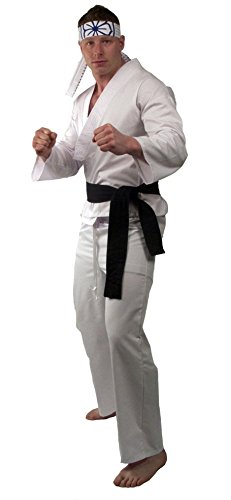 The Karate Kid DELUXE Daniel Mens Replica Gi Costume (Medium/Large)