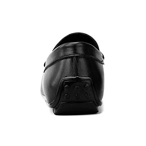 Mocassini per Dimensione Black con Slip uomo i pelle vera Color indossare da EU mocassini 2 casual Black Fitting Scarpe Leggero Ofgcfbvxd 41 in Wider On 3 1tq51