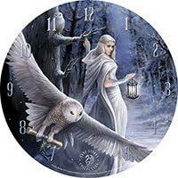 nattaponshop Curiosity Corner Midnight Messenger Clock Anne Stokes