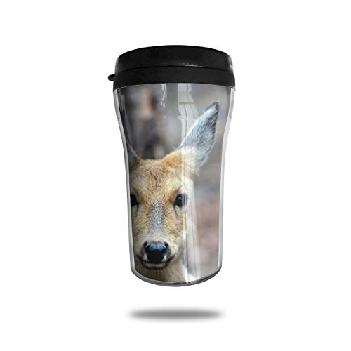 - FTRGRAFE Deer Animal Travel Coffee Mug 3D Printed Portable Vacuum Cup,Insulated Tea Cup Water Bottle Tumblers for Drinking with Lid 8.54 Oz (250 Ml)