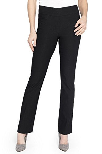 Rekucci Womens Ease In To Comfort Boot Cut Pant (18Black)