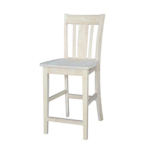 San Remo Unfinished Slat Back Counter Stool
