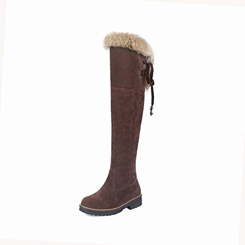 34 Più Signore Women donne Inverno Marrone Luo Velluto Stivali Delle 43 Pile Eleganti' basso S Caldo Stivali 's Tacco nYBwgWqa