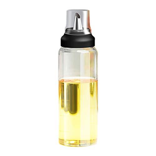 SODIAL Premium Olive Oil Bottle No Drip Glass Oil Pourer Kitchen Olive Oil Container Vinegar Measuring Spout Bottle 300ML