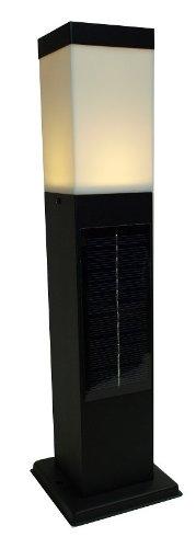 システック LED ソーラーポールライト スリムタイプ 電球色ブラック SPL-SL-ORB B00I3XA3SA ブラック 電球色