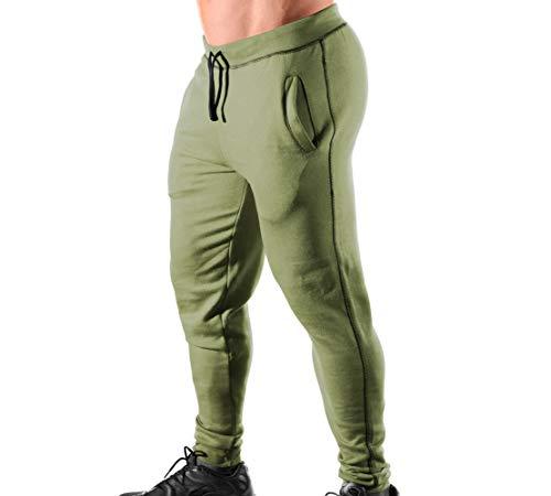 Monsta Clothing Co. Men's Gym (ES:HRD-LVN Classic-000) Cuffed Joggers (G:MG/BK)