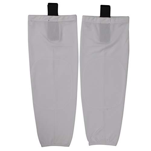 (COLDINDOOR Hockey Socks Junior, Boy Kids Knit Shin Pad Cool Ice Hockey Socks S White)