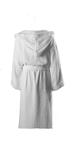 Heavyweight Terry Robe (Heavy 3LB Hooded Terry cloth Bathrobe. Full Length 100% Turkish Cotton)