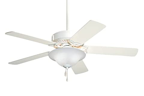 Emerson Ceiling Fans CF712WW Pro Series Indoor Ceiling Fan With Light, 50-Inch Blades, Appliance White - Emerson Indoor Fans