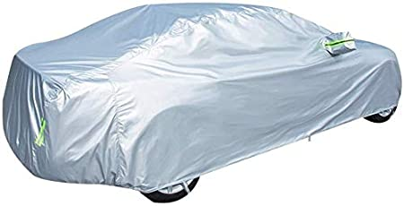 CRRQQ Car cover Compatible With Audi A8L Car Cover Thick Oxford Cloth All Weather Rainproof Sunscreen Outdoor Indoor Car Tarpaulin Color : Silver