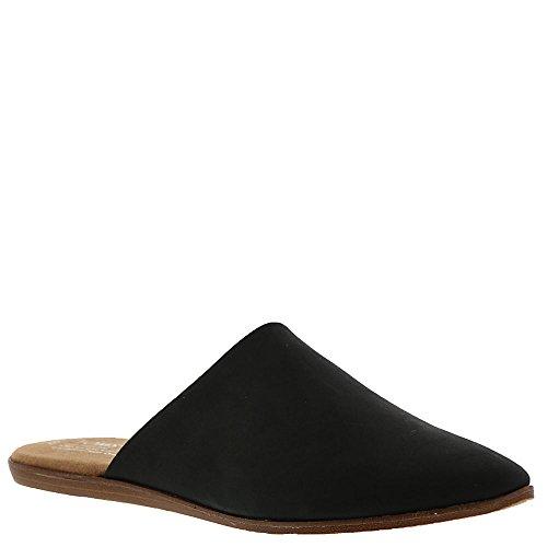 TOMS Women#039s Jutti Black Leather Mule Shoes 85