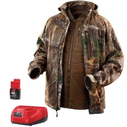 MLW2387L Milwaukee Electric Tools M12 Realtree Xtra Camo 3-in-1 Heated Jacket, Size L