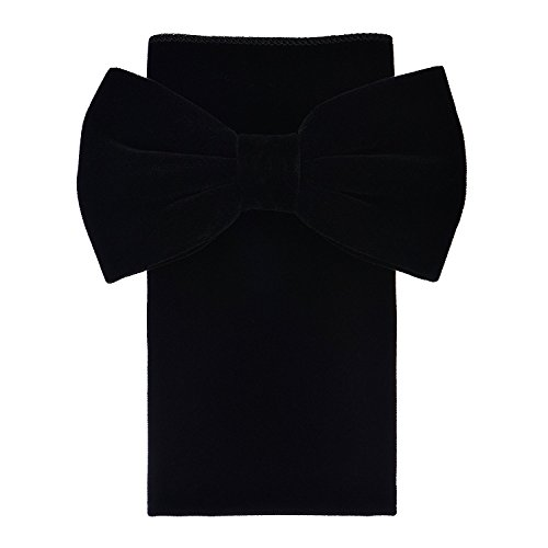 (Oliver George Velvet Bow Tie Set (Black)-B)