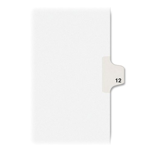Avery Individual Legal Exhibit Dividers, Avery Style, 12, Side Tab, 8.5 x 11 inches, Pack of 25 (11922) (Divider 12 X Divider)