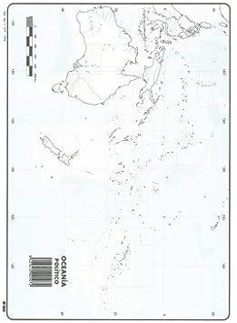 Mapa Mudo Oceania Político A4 (10 ud.): Amazon.es: Oficina y papelería