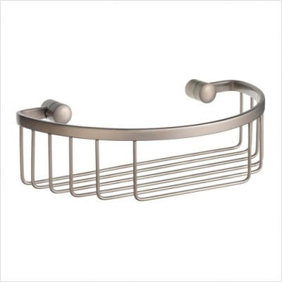 Sideline Half Round Soap Basket in Brushed Chrome Finish by Smedbo