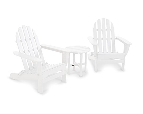 Classic Adirondack Chair Seating Set, White ()