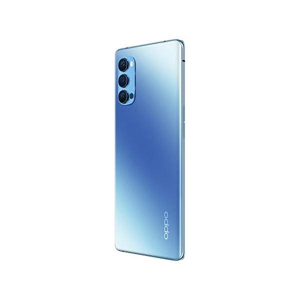 """OPPO Reno4 Pro Smartphone 5G, 172g, Display 6.5"""" FHD+ AMOLED, 3 Fotocamere 48MP, RAM 12GB + ROM 256GB non Espandibile, Batteria 4000mAh, Ricarica Super, Dual Sim, [Versione Italiana], Galactic Blue 4"""