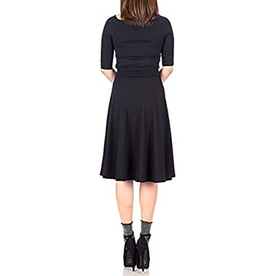 Dani's Choice Stretch High Waist A-line Flared Long Midi Skirt at Women's Clothing store