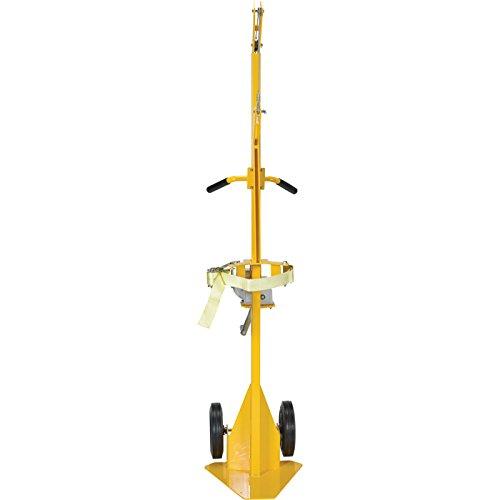 Vestil CYL-LT-1-HR Portable Cylinder Lifter with Hard Rubber, Steel, 17-5/8'' Width, 79-3/16'' Height, 23-1/2'' Depth