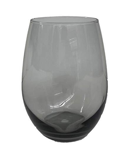 Smoked Stemless Chardonnay Wine Glass, 20.5 ounce, Set of 4