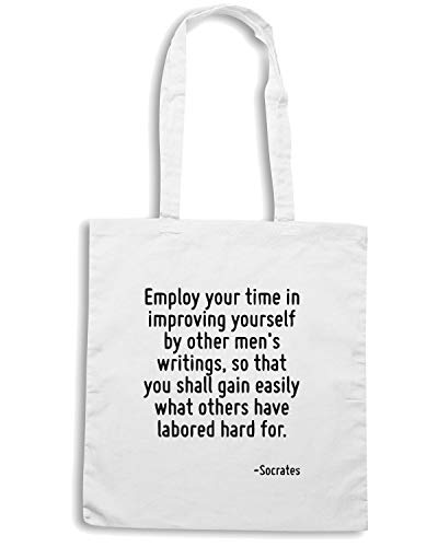 IMPROVING BY IN YOURSELF Speed MEN OTHER TIME Shopper S YOUR WRITINGS Borsa EMPLOY Shirt Bianca CIT0072 wznqCPw