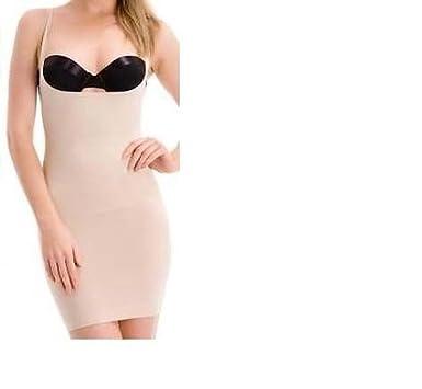 0f7ee563c25 Fond de robe gainant noir ou nude pour femme  Amazon.fr  Vêtements et  accessoires