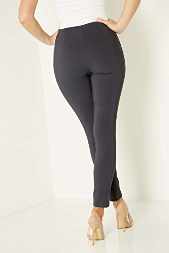 Roman Grey Jeans Ete Simple Grande Taille Amincissant Jeggings Stretch Originals Dark Pantalon Tailleur Poches Femme Printemps rx1nrqZw4