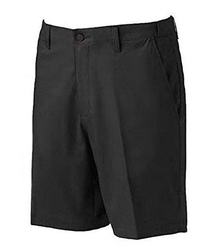 Croft & Barrow Mens Ultimate Comfort Short Stretch Fabric Easy Care Flex Waist 8.5'' Inseam (29'', Black Tie) by Croft & Barrow