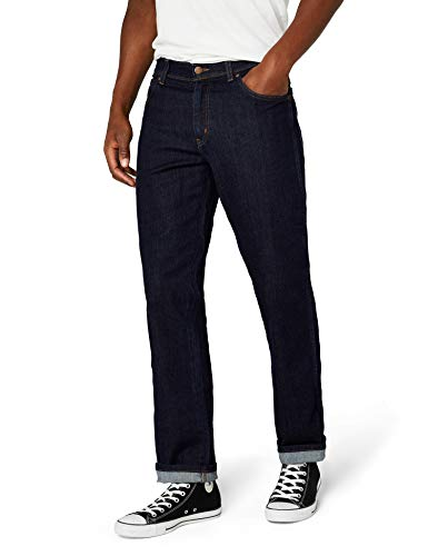 W33 Jeans Blu Contrast darkstone Wrangler Texas Uomo l30 qzYHTw