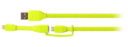 Tylt Syncable-Duo 1' Charge and Sync Cable with Lightning & Micro USB Connector for iPod/iPhone/iPad, Green by Technocel (Image #6)