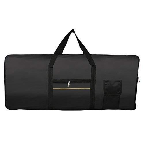 Glarry Electric Piano Keyboard 61 Key Nylon Case Gig Bag with Strap for Casio Black by GLARRY